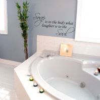 Bathroom Wall Sticker Soap is to the Body What Laughter is to the Soul Decal